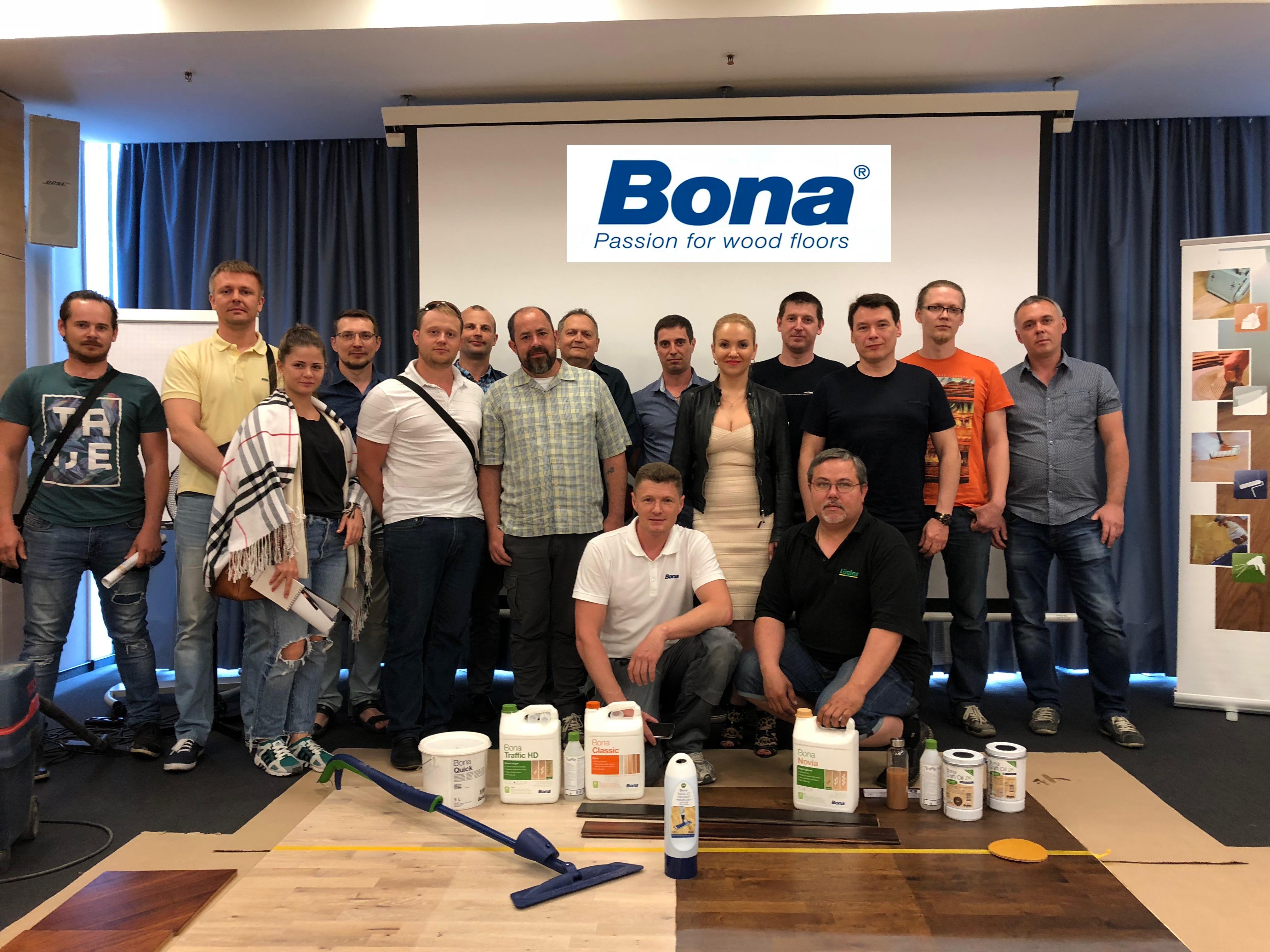 Семинар профессиональной паркетной продукции Bona 30.05.2018